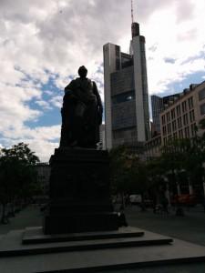 Goethe statue in Frankfurt