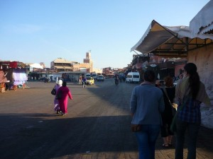 Djemaa el Fna in the morning