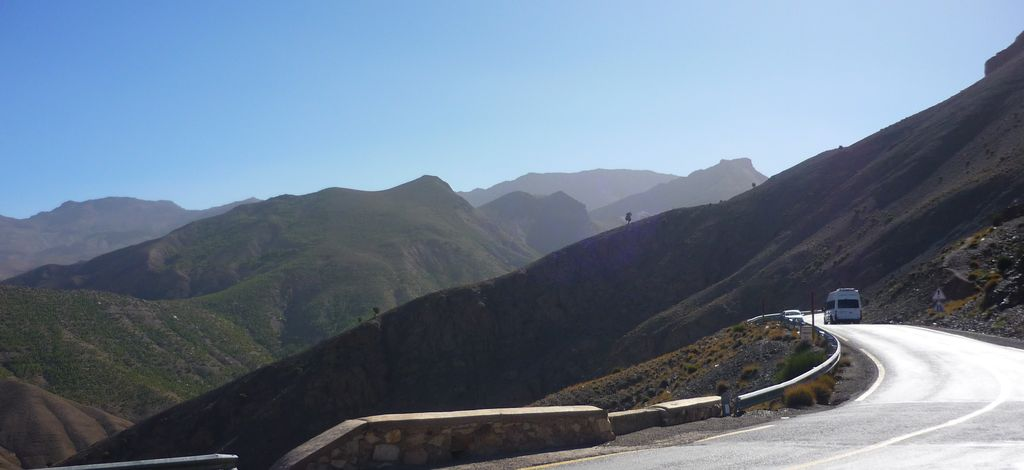 road through the Atlas mountains