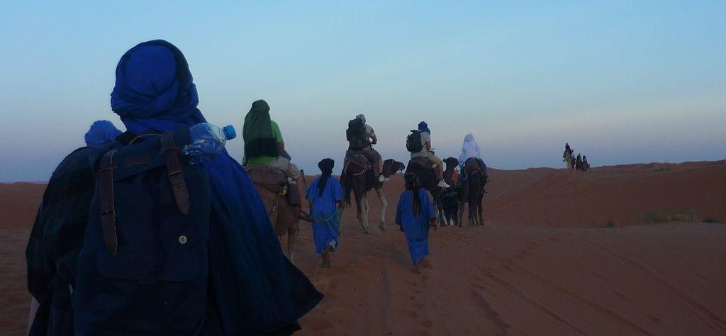 desert ride at sunset