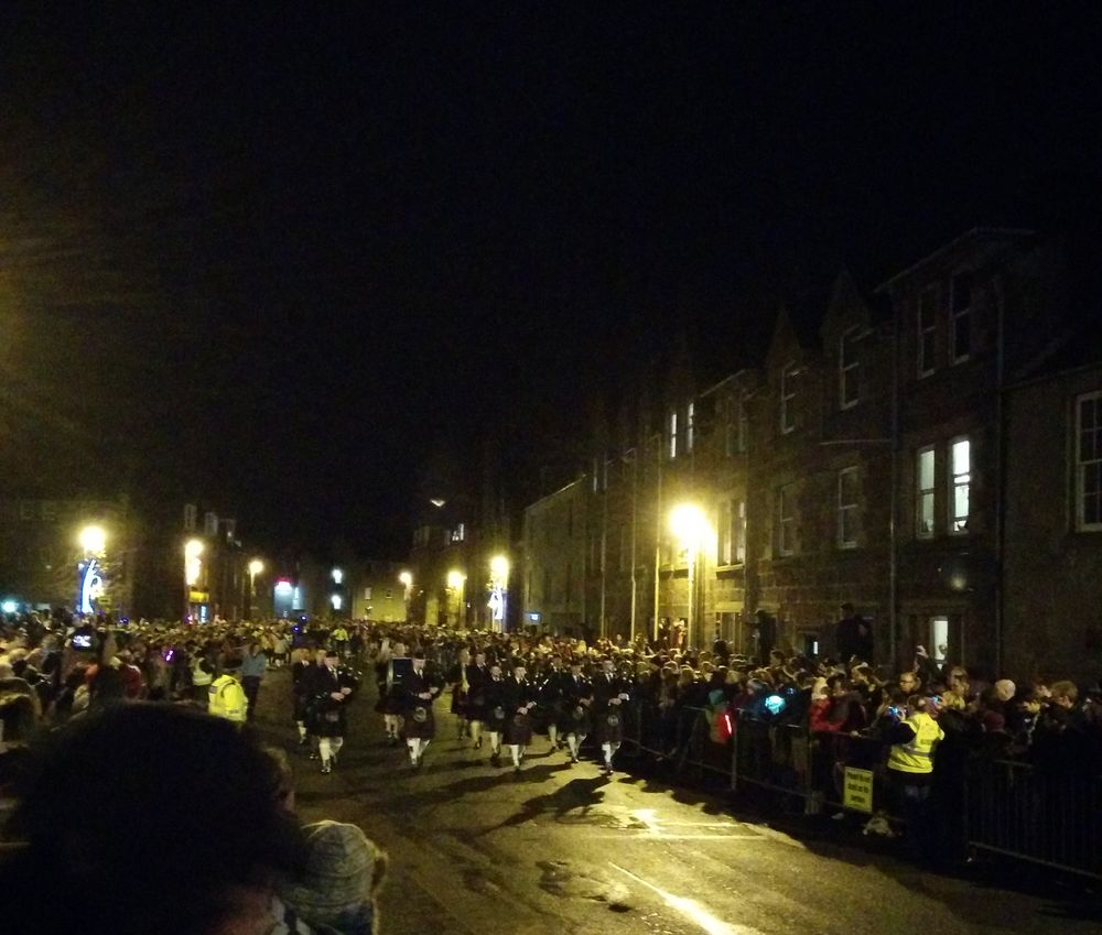 Hogmanay pipers