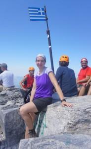 on the peak