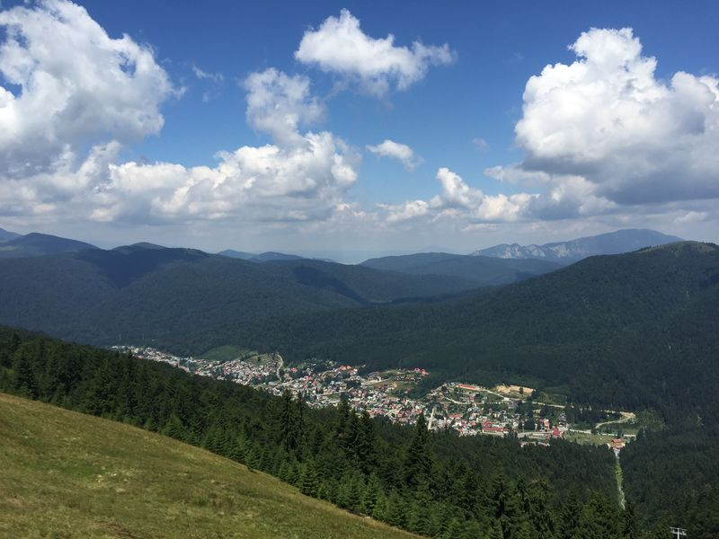 view from the gondola station