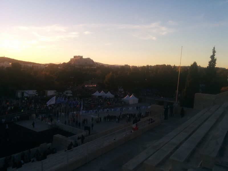 Athens marathon finish