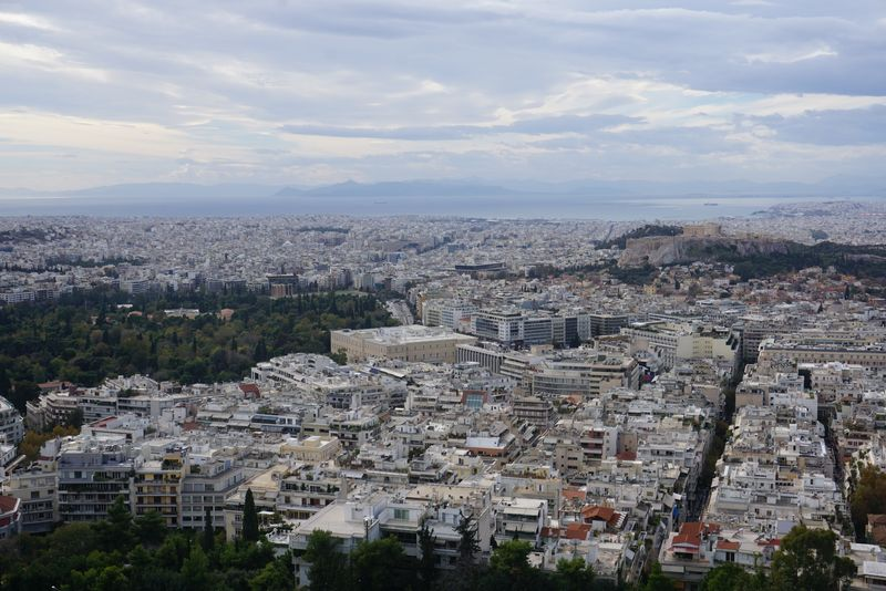 The view from the Licabetus hill