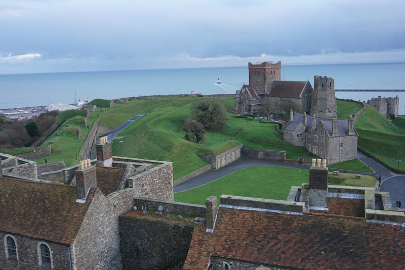 view from the Dover Castle