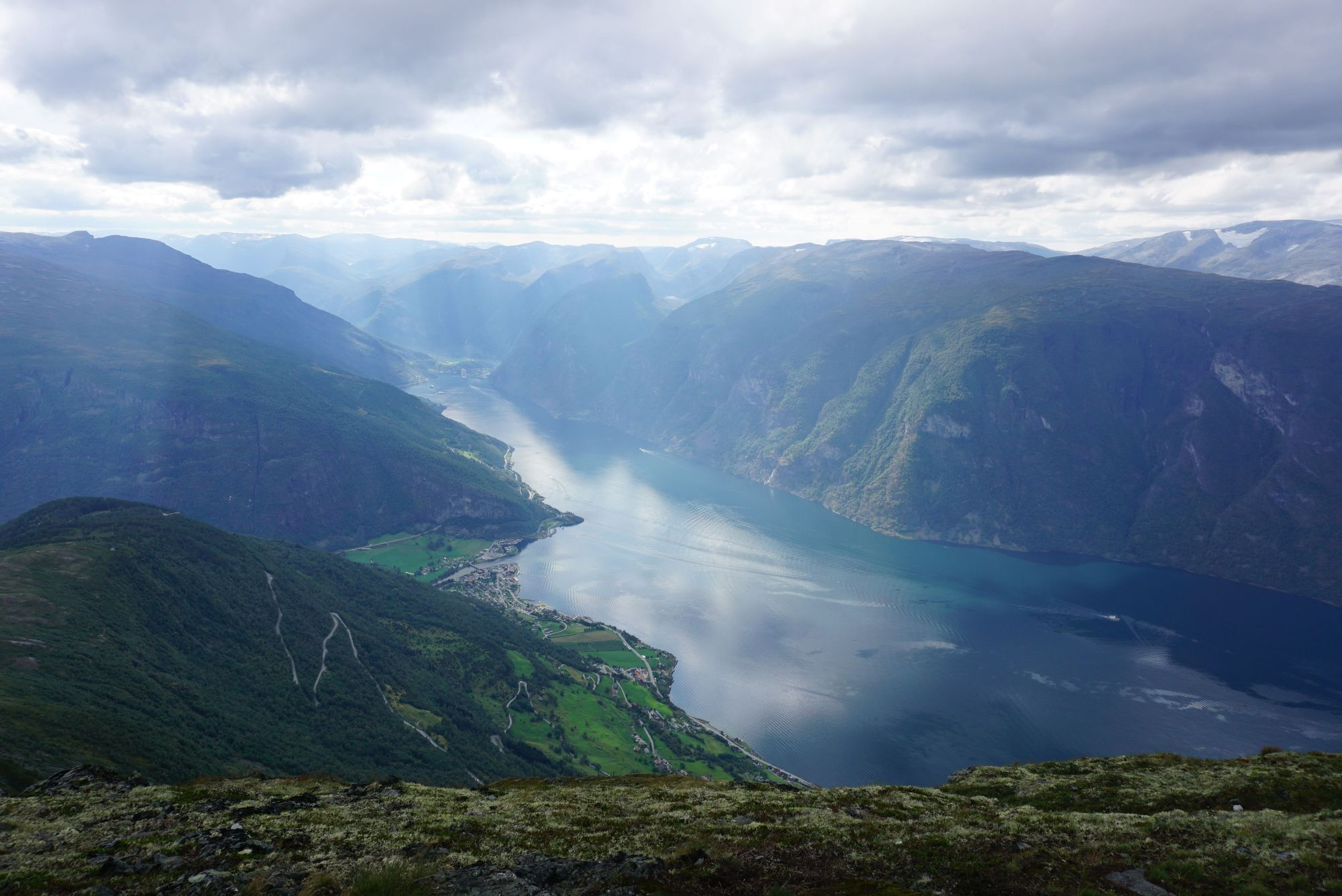 Aurlandsfjord hike view from Prest