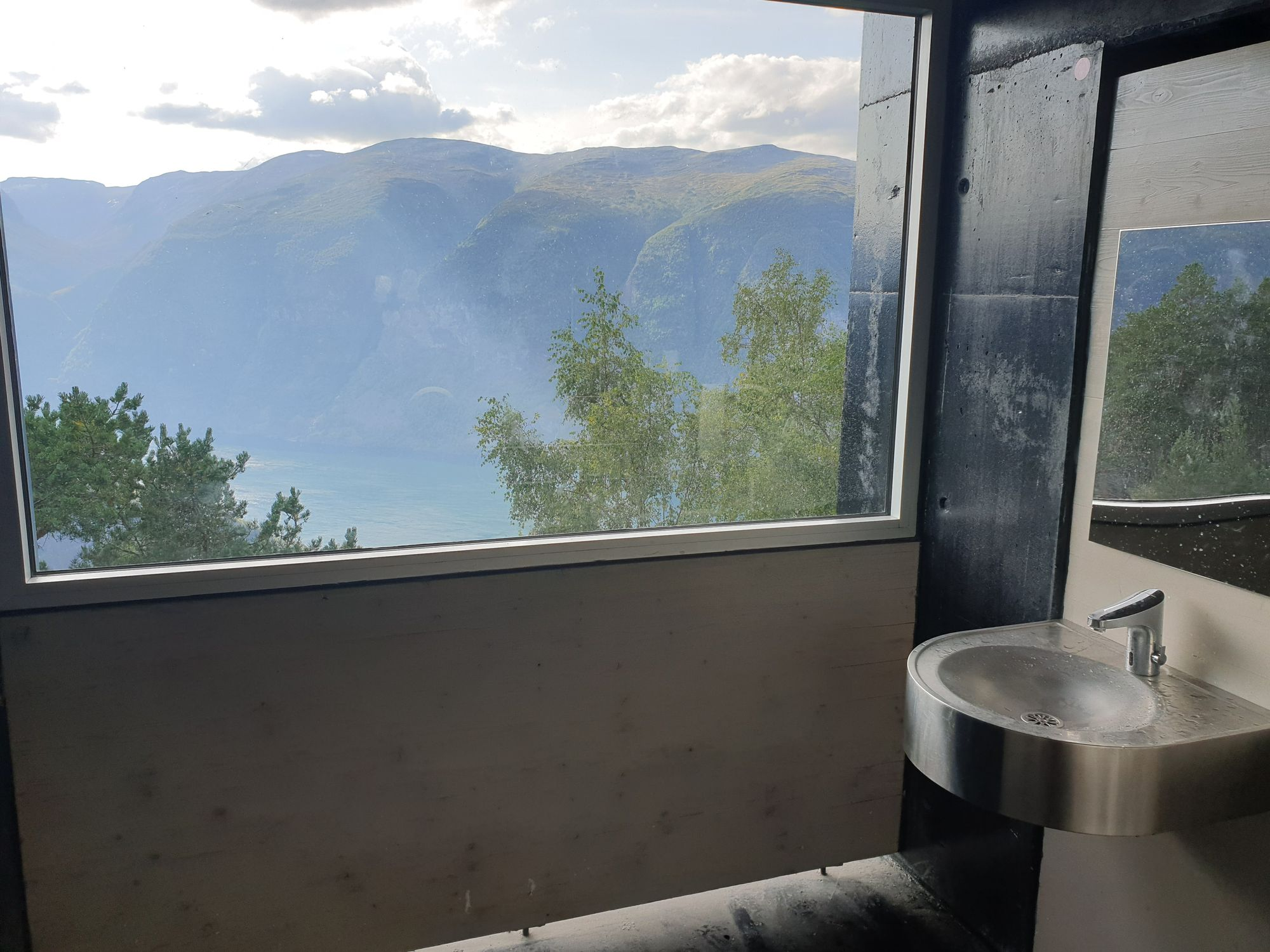 Stegastein toilet view