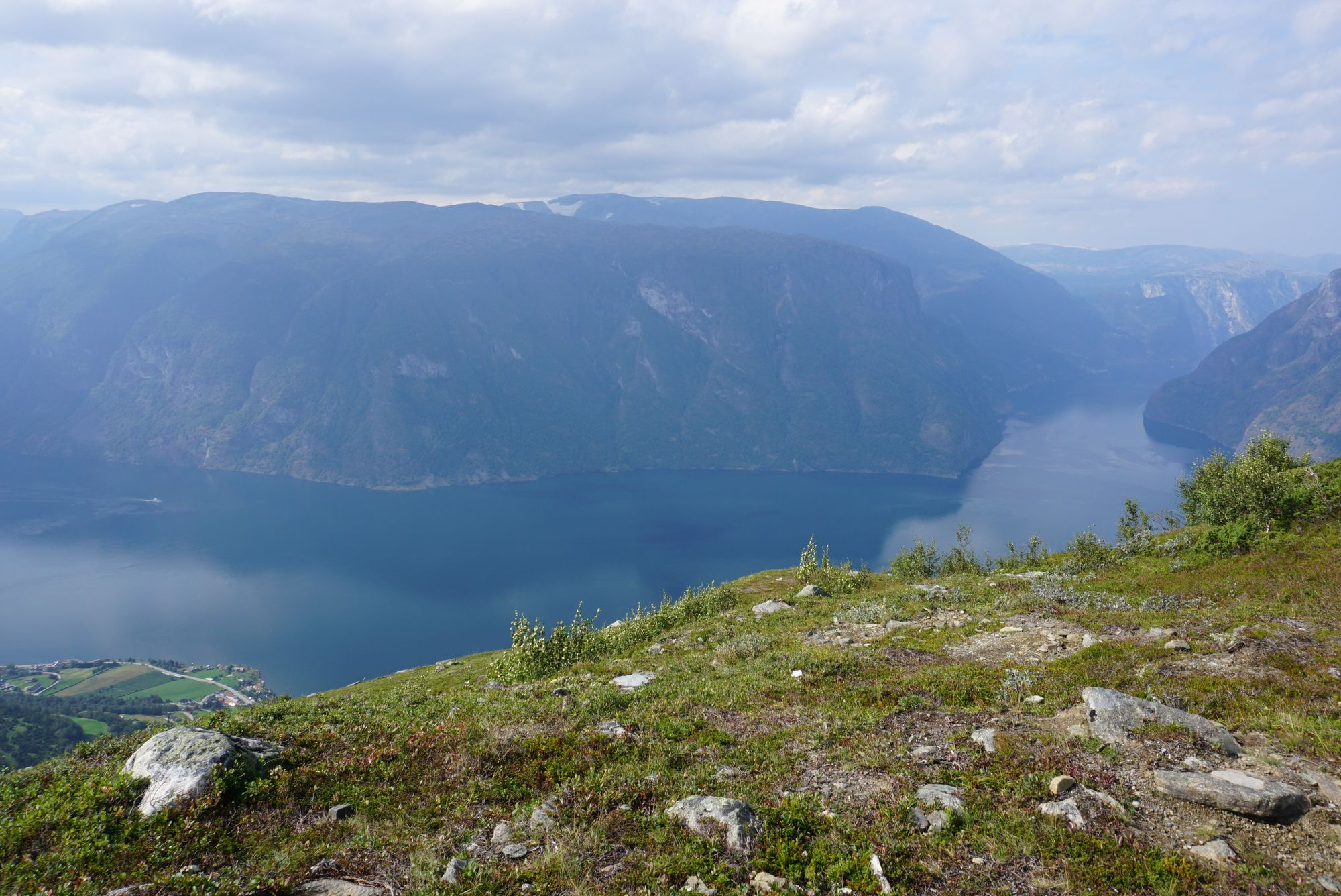 Aurlandsfjord view from the way up